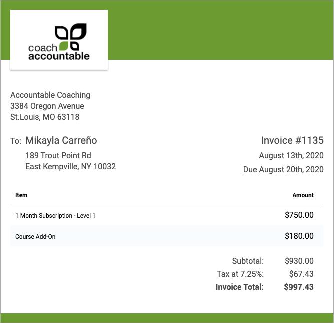 Image illustration of Invoicing